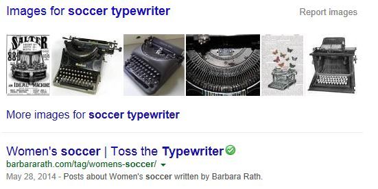 Soccer Typewriter Search Finds Me!