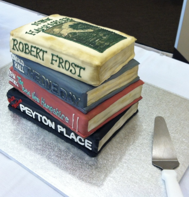 NH Literary Hall of Fame Cake created by talented Southern NH University student.